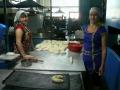 Булочный цех. Мастера-пекари Анастасия Рашидовна Зайцева и Татьяна Сергеевна Мозговая выпекают булочки всех мастей, ватрушки, завитушки, печенья