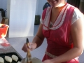 В пирожковом цехе. Румяные, да с разными начинками с капустой, картошкой, яблоками, ливером пирожки от Валентины Николаевны Полиной в районе нахваливают!