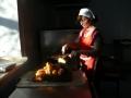 В пирожковом цехе. Румяные, да с разными начинками с капустой, картошкой, яблоками, ливером пирожки от Елены Михайловны Гуляевой в районе нахваливают!