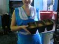 Конек пекаря Ольги Николаевны Севастьяновой хлеб «Сергеевский», «Луковый», «Бриош»
